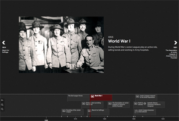 Interactive Timeline Screenshot