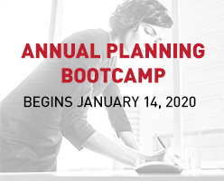Annual Planning Bootcamp Begins January 14, 2020
