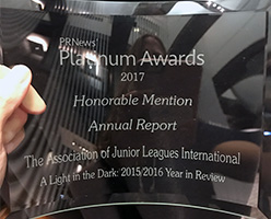 The Junior League Annual Report And Rebranding Recognized At Pr News Platinum Awards